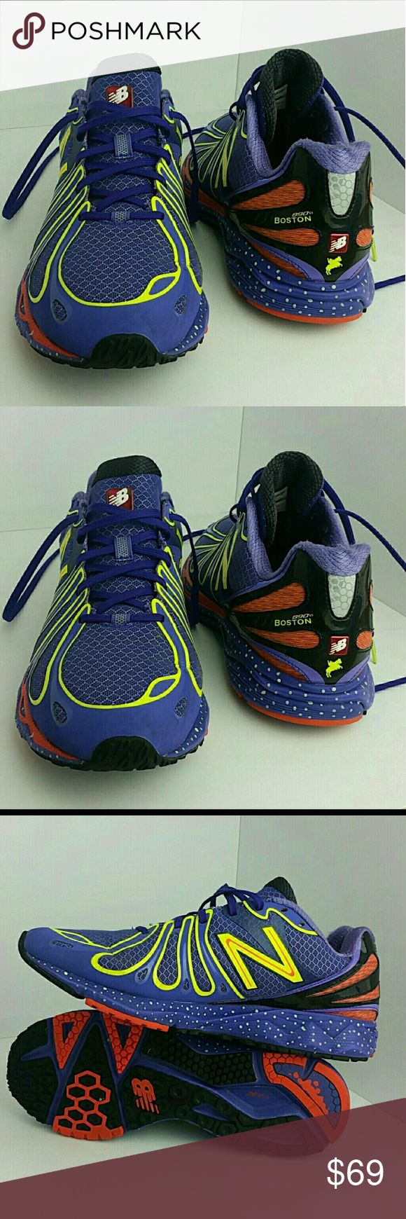 NEW BALANCE 890 V3 BOSTON MARATHON MEN'S SHOES VERY CLEAN INSIDE-OUT   SKE # MG New Balance Shoes Athletic Shoes