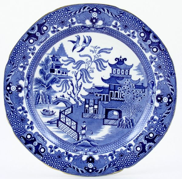 Blue Willow China Burleigh Plate C1920s And 1930s White Pinterest Pattern