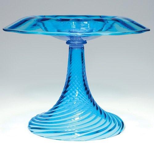 Steuben Celeste Blue Compote
