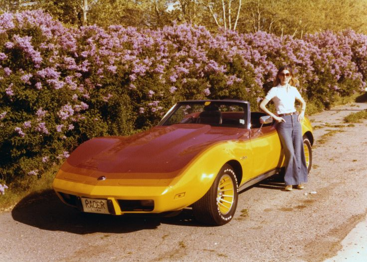 Car 38 - the 1975 Corvette with modifications. Added Greenwood flares, mags and custom paint.  We drove this car daily for 4 years and entered it in numerous car shows.
