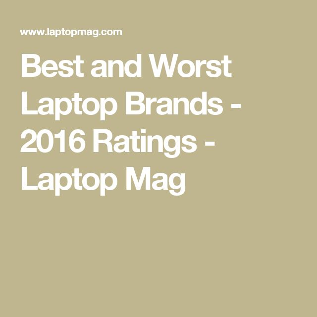 Best and Worst Laptop Brands - 2016 Ratings - Laptop Mag