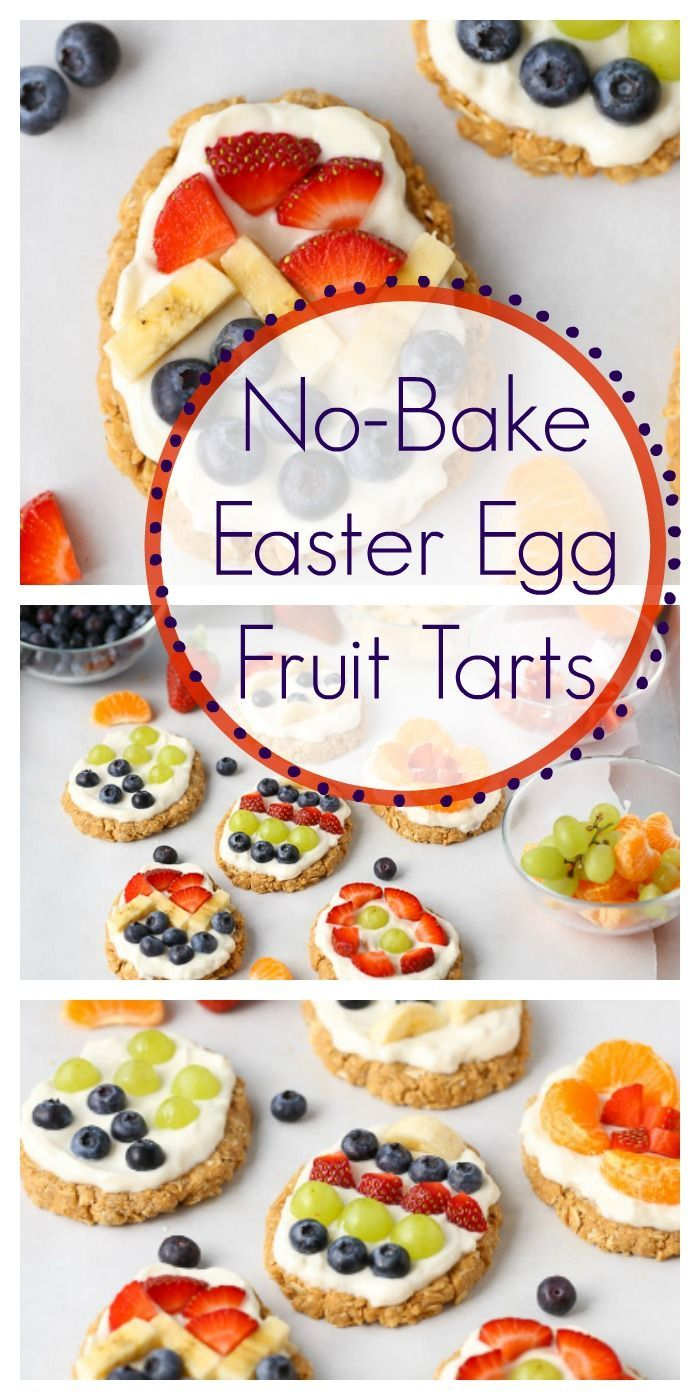 No-bake Easter egg fruit cake   – Easter wreath