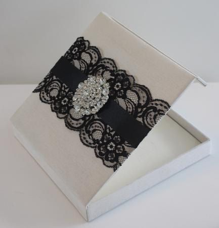 Wedding Invitation Silk Box With by luxuryweddinvitation on Etsy
