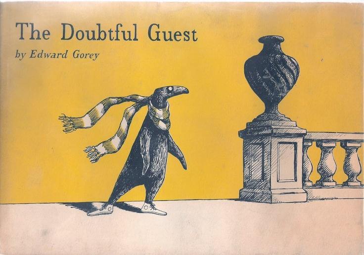 book coverTattoo Ideas, Doubt Guest, Bookworm Anonymous, Edward Gorey, Book Covers, Children Book