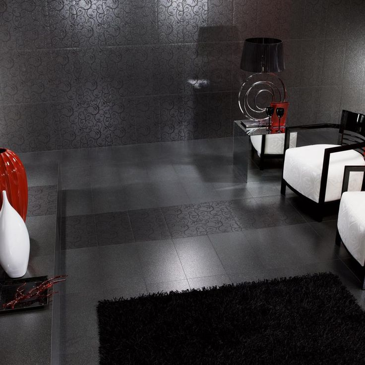 LUX BLACK 600 X 300mm Tiles. These Beautiful Contemporary Tiles Create An  Elegant Atmosphere To Part 55