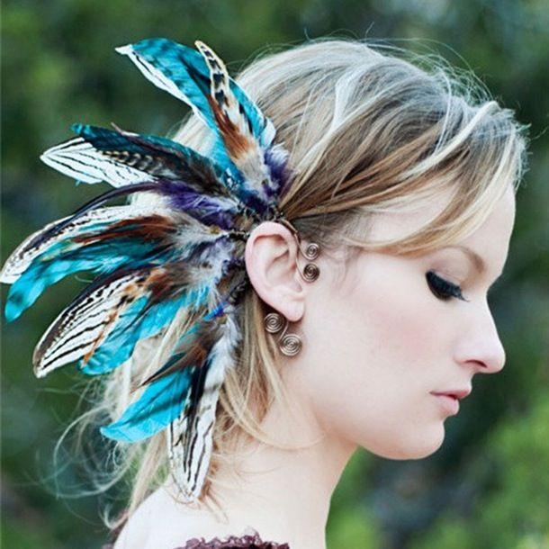 Spirit Tribe 羽根飾りのヘッドドレス