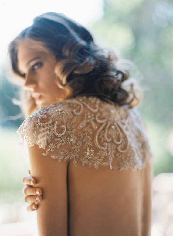 Dream Weaver Embroidered Tullebridal cape