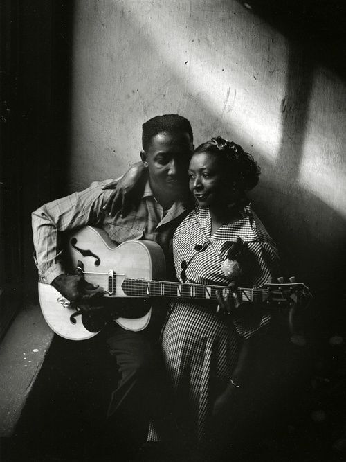 Muddy Waters and wife Geneva, Chicago, 1951, photo by Art Shay via dumbbabysounds