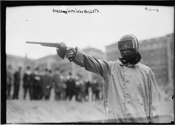 Duelo de balas de cera, Nueva York, 1909 (proto-airsoft).