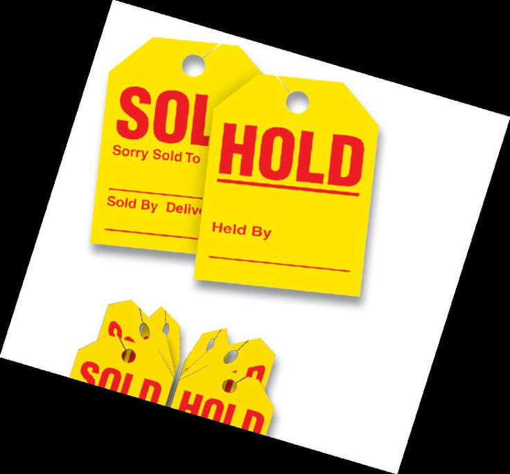 Packsold hold tags are two tags in one sold on the front the mirror stickerhang