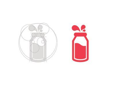 Milk Bottle : 計算しつくされたガイド構成が美しいロゴデザインまとめ - NAVER まとめ