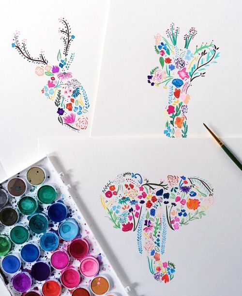 prettiest little watercolor drawings!