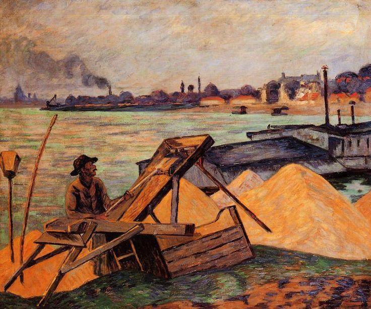 "Jean Baptiste Armand Guillaumin (1841-1927) ""Tamisage de sable""."