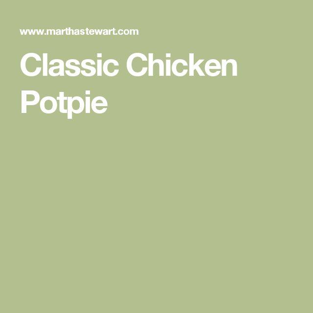 Classic Chicken Potpie