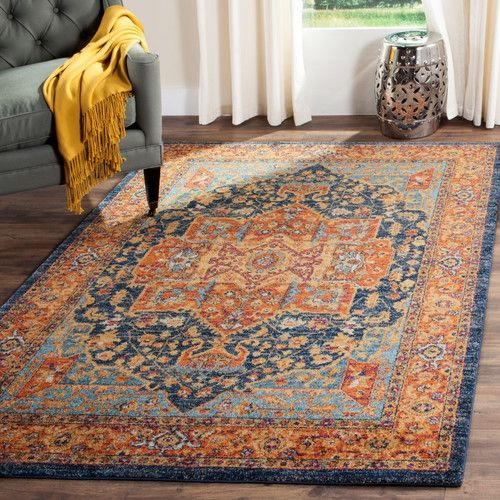 Found it at Wayfair Supply - Ameesha Blue/Orange Area Rug