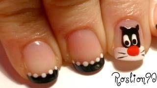 imagenes de uñas decoradas con gato silvestre - YouTube