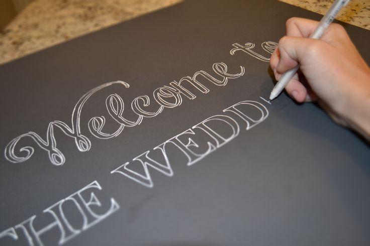 DIY Chalkboard Wedding Signs : A Simple Hack