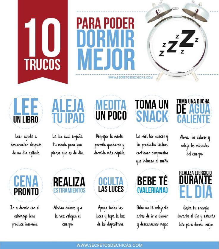10 trucos para poder dormir mejor