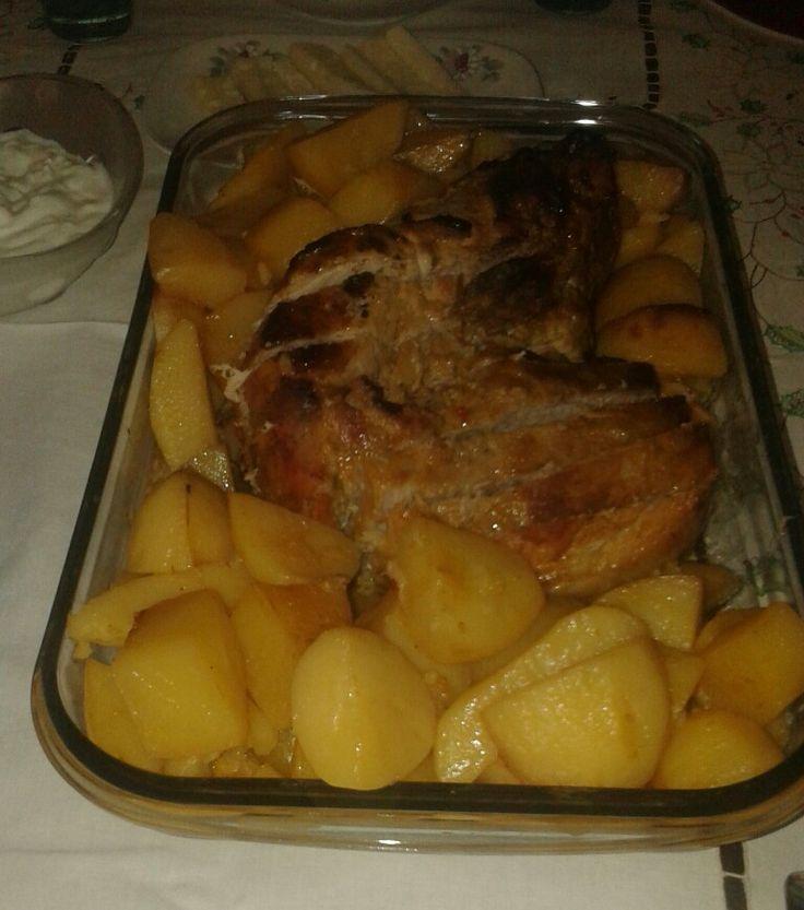 Marinated pork with potatoes