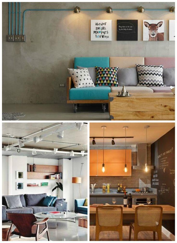Trilhos não exigem tantos pontos elétricos para a instalação e são elementos decorativos de estilo Industrial.