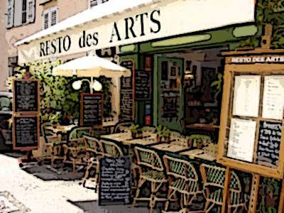 Resto des Arts - This spot is a delight. You'll find yourself wanting to return to this restaurant time and time again! The service is warm, friendly and prompt. The restaurant offers set menus. You'll see that this is one of the most popular spots in Mougins, so consider booking ahead to ensure a table to dine here. This well-priced restaurant also has a good wine list that shines in its lovely surroundings.