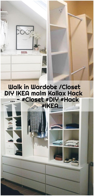 Walk In Wardobe Closet Diy Ikea Malm Kallax Hack Closet