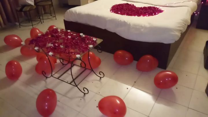 Beautiful Romantic Room Decoration Done At Mount Castle Villa