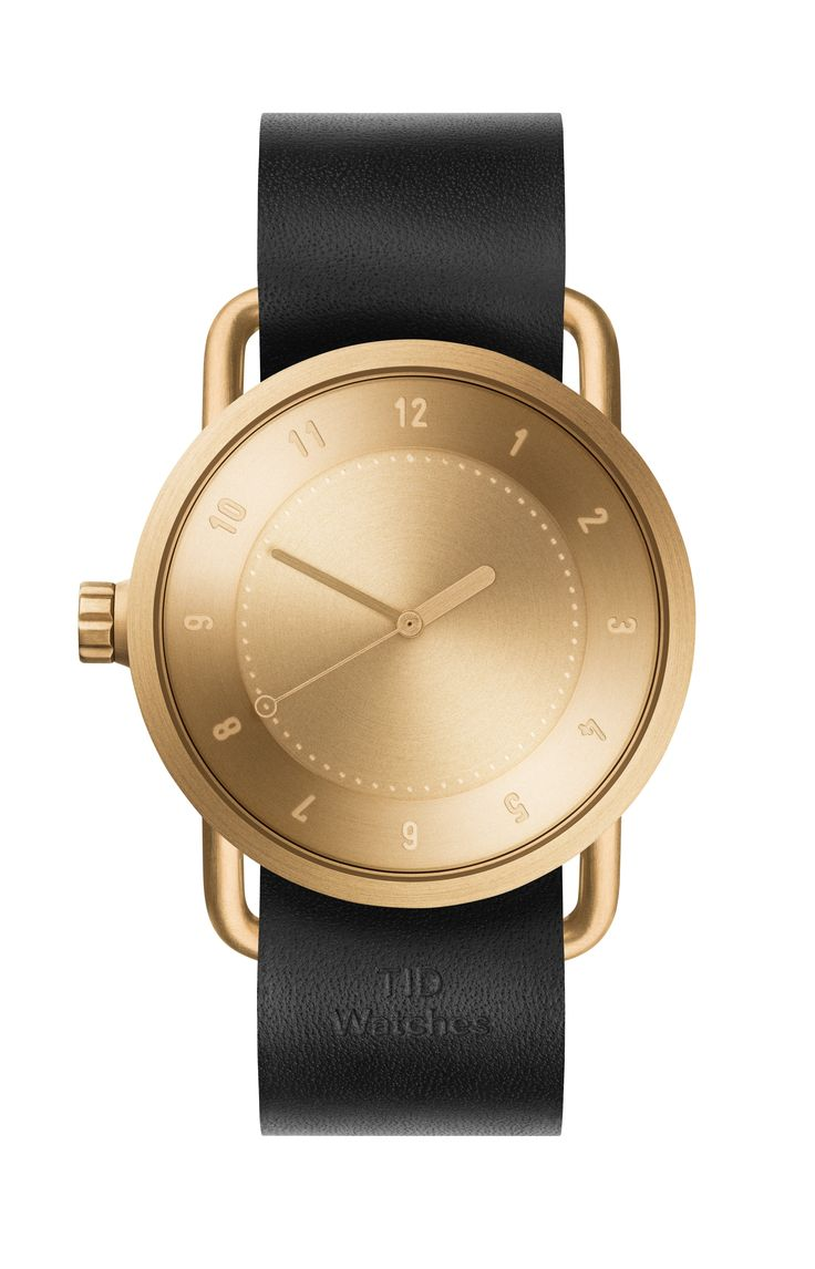 TID Watch No.1 Gold / Black Leather https://dezegarki.pl/pl/p/TID-Watch-No.1-Gold-Black-Leather-/267