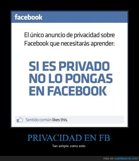 El único anuncio de privacidad sobre Facebook que ...