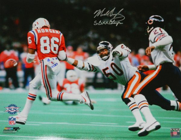 Mike Singletary Signed Chicago Bears Super Bowl XX vs Patriots 16x20 Photo w/SB XX Champs