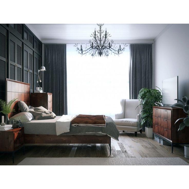 "Интерьер спальни с мебелью из коллекции ""Emerson"". Скидка на комплект -15% от онлайн-маркета ""Этажерка""!"