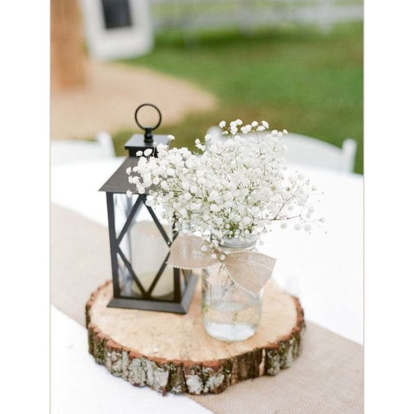 Rustic Wedding Centerpiece Round Tree Bark Slice Rustic Wood Tree... ($16) ❤ liked on Polyvore featuring home, home decor, silver, weddings, wood centerpieces, rustic wood home decor, wood cupcake stand, wooden home decor and rustic wood cupcake stand