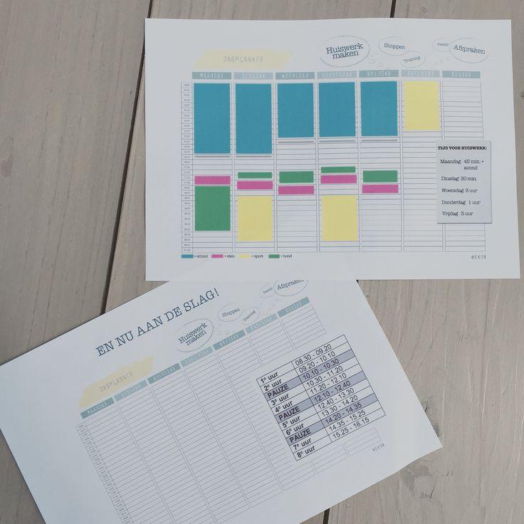 Gratis download - Huiswerkplanner www.skur.eu #huiswerk # planner # schoolplanning #skur #plannenmetpubers