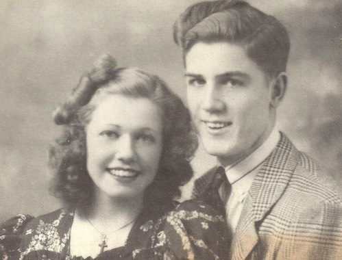 Doris Mary Ann Kappelhoff but we know her as Doris Day - age 15 (with her brother Paul Kappelhoff).