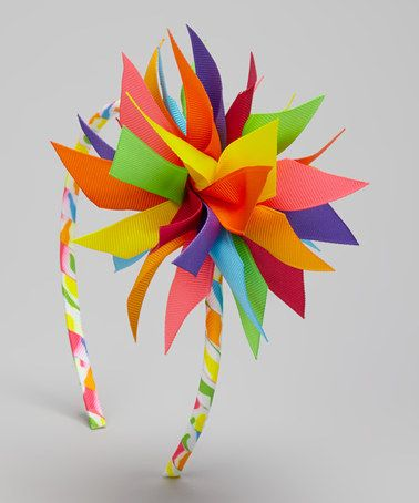 Look what I found on #zulily! Rainbow Surprise Bow Headband by Picture Perfect Hair Bows #zulilyfinds