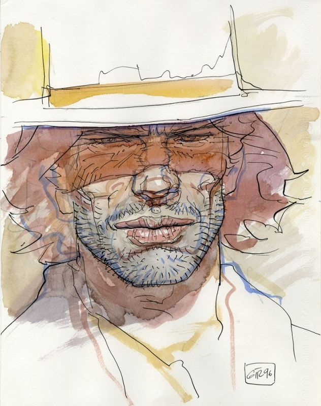 Aquarelle Blueberry par Jean Giraud - Oeuvre originale - http://www.2dgalleries.com/art/aquarelle-blueberry-17187