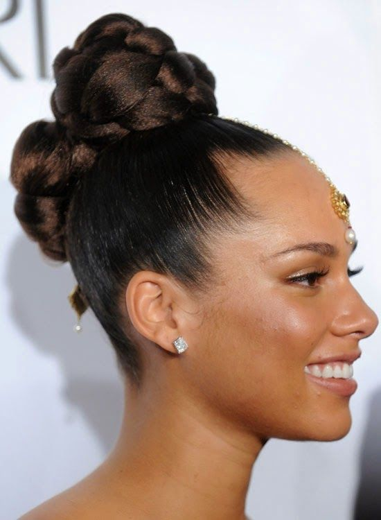 Original Updo Hairstyles For Short Hair  Messy High Side Bun