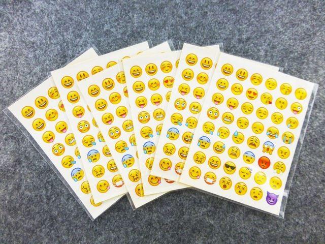 20 листов (48 наклейки) Милый Прекрасный 48 Die-Cut Emoji Улыбка Наклейки Для Ноутбуков Сообщение Высокая Винил Смешно творческий #CLICK! #clothing, #shoes, #jewelry, #women, #men, #hats, #watches