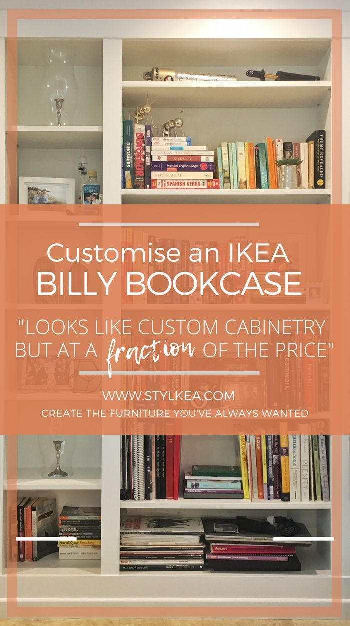 DIY Project: Built in IKEA BILLY Bookcase Lux Hax | Ikea