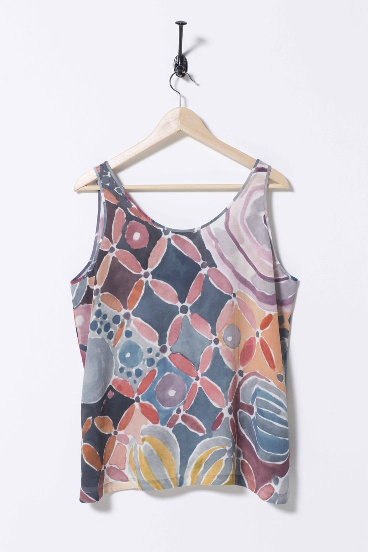 Isola Tank Woodland, Nancy Bird 100% silk crepe