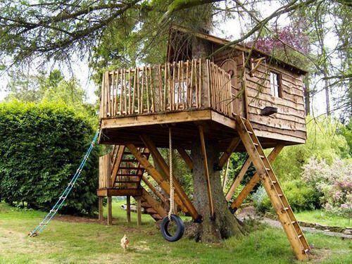 La casa del árbol que todos soñamos alguna vez.