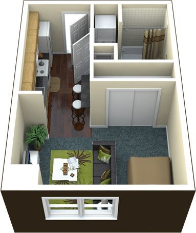 400 sq ft apartment floor plan - Google Search: