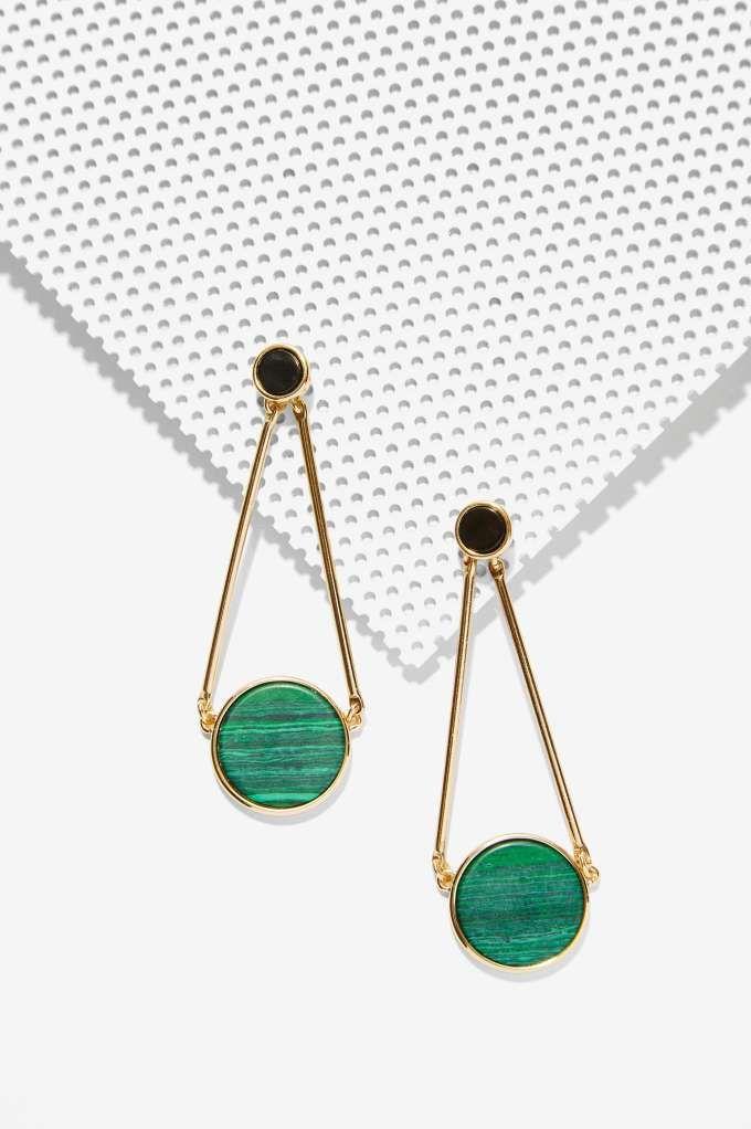 Gorgeous Green Drop Earrings