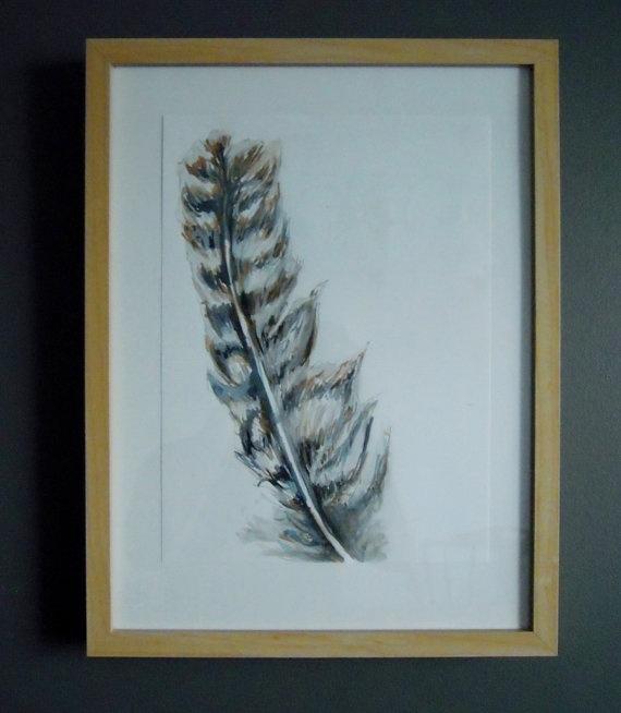 Wild Turkey 03  Original Watercolour Painting by TurnOfPhrase, $60.00