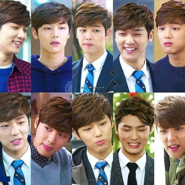 Faces of Yoon Chan Young..