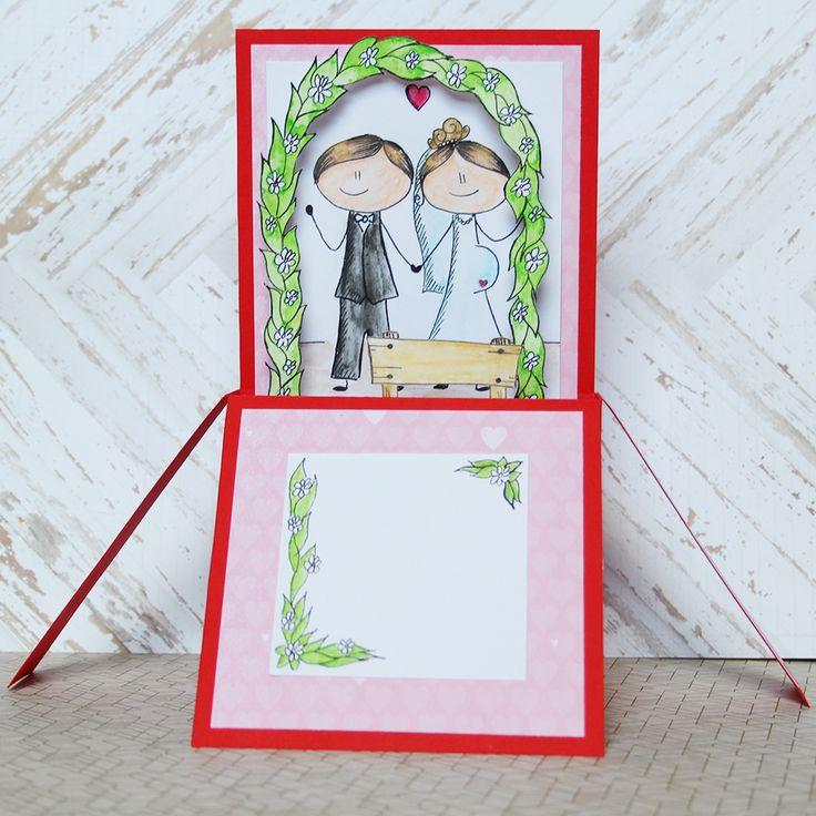 wedding card by alsine design 2014