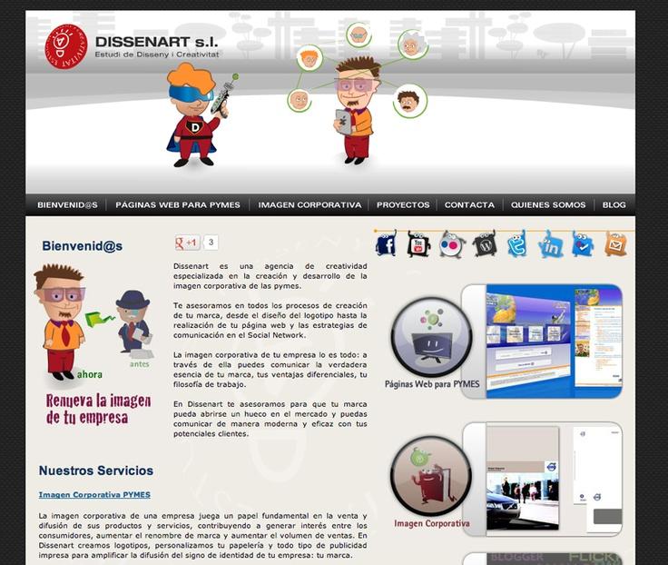 Página web www.dissenart.com