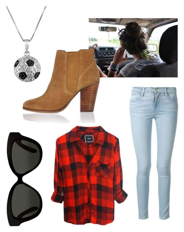 """""""The soccer girlfriend"""" by curlcrazy ❤ liked on Polyvore featuring Rails, Frame Denim, River Island, Linda Farrow and Jewel Exclusive"""