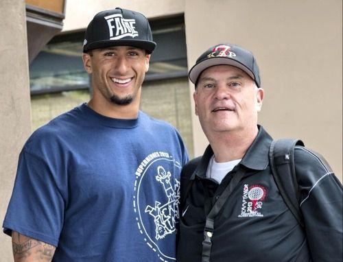 Colin Kaepernick & His Dad.