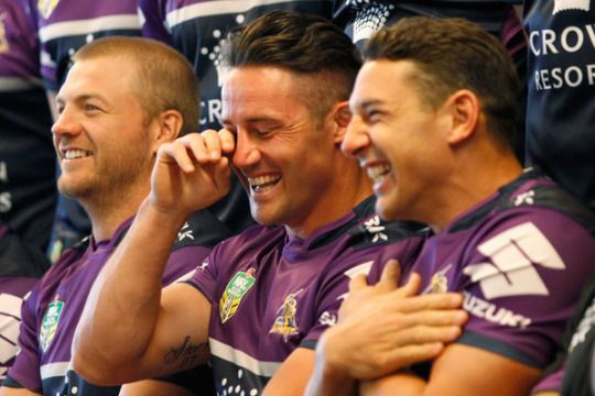 Cooper Cronk and Billy Slater